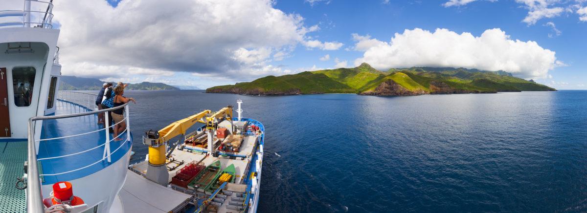 Aranui 5 cruise ship in polynesia