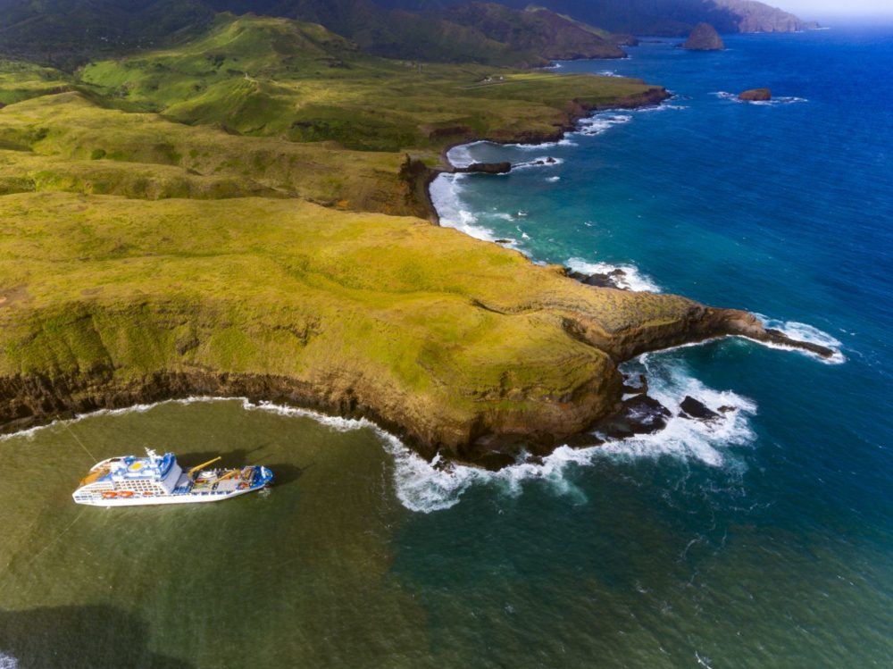 polynesian cruise on board the mixed cargo ship