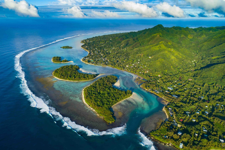 Panorama Rarotonga iles marquises