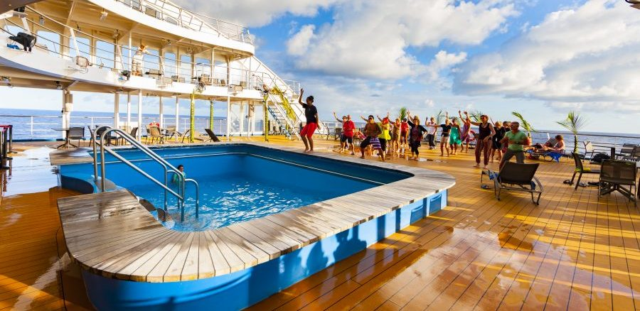 Marquesas Islands cruise dance organised by the guides