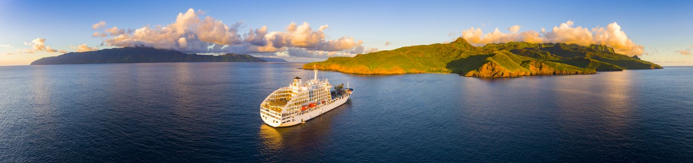 Aranui ship in the open sea