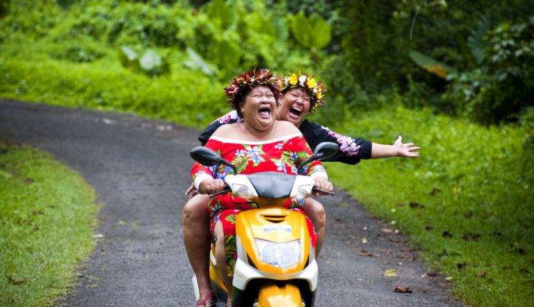 habitantes sur scooter