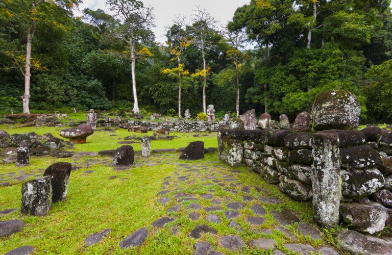 héritage culturel tiki de pierre
