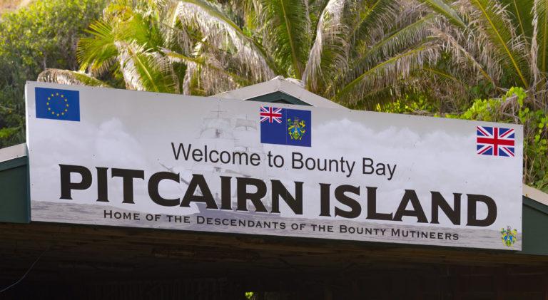 Panneau de bienvenu iles pitcairn